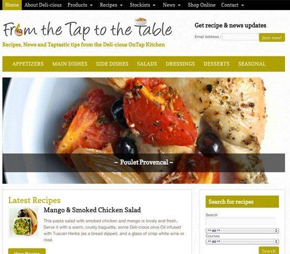 Food Blog Web Design