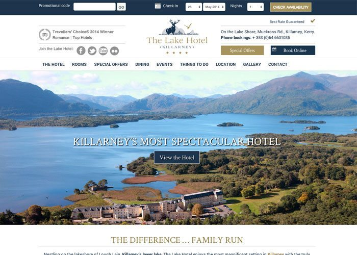 Hotel Web Design Ireland